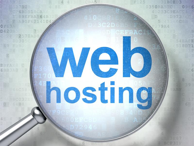 web hosting under magnification